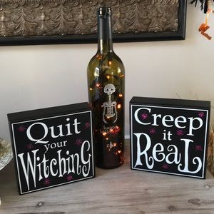 👻 Halloween box pictures set of 2 🎃